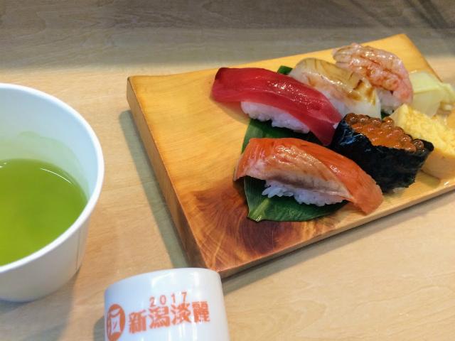 酒の陣2017・新潟県寿司組合の握り
