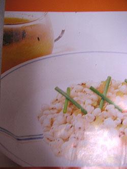 はと麦のピラフと人参スープ