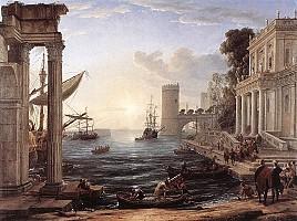 クロード・ロラン「海港、シバの女王の乗船(1648)