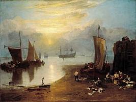 ターナー 霧のなかを昇る太陽