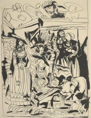 パブロ・ピカソ 《ダヴィデとバテシバ》 1947年