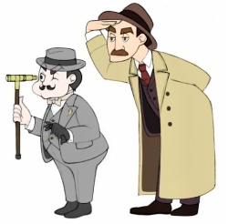poirot and insepector japp
