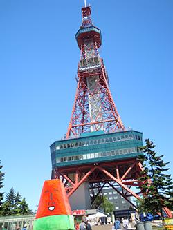 テレビ塔にて