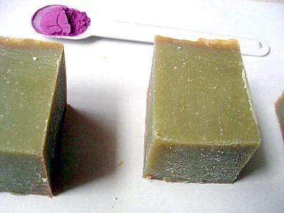 紫芋ファインパウダー石けん