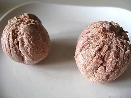 チョコレート色の手作りバスボム9
