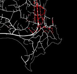 シムトレッドによる広域避難シミュレーション