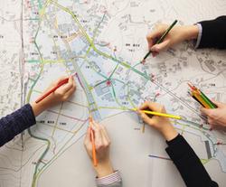 ワークショップでの手描きによる地域の把握