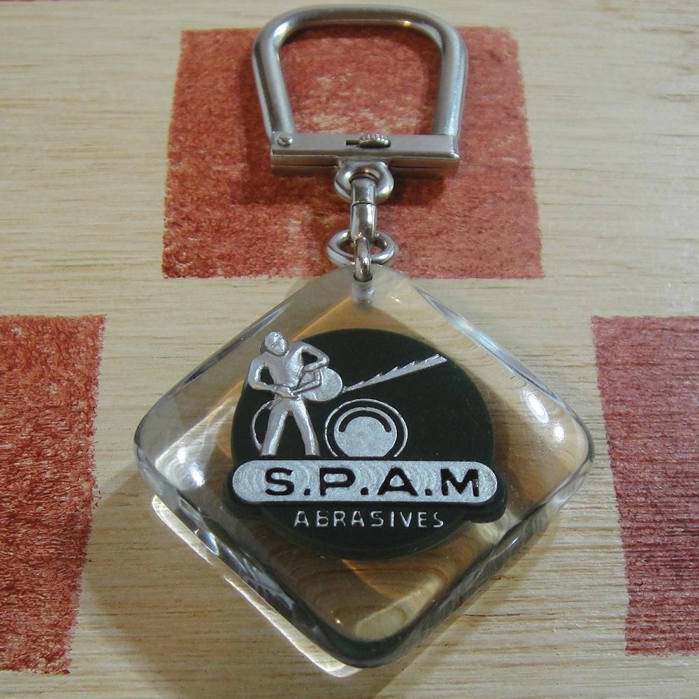 フランス SPAM[スパム]研磨製品メーカー広告 ブルボンキーホルダー
