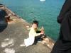 漁港で海斗