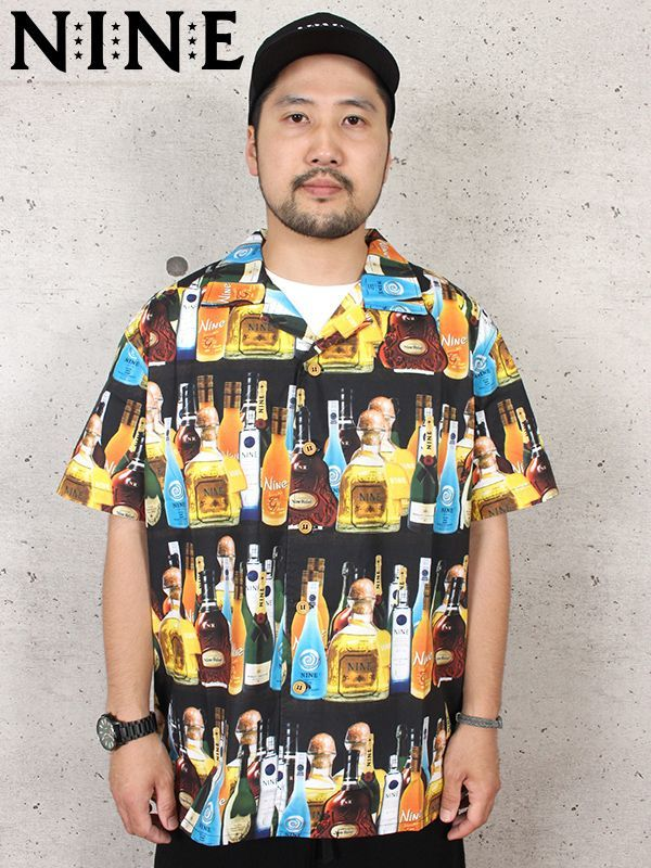 "a3990c30ace7f NINE RULAZ(ナインルーラーズ) ""PARTY BOOZE SHIRT""  NRSS18-028 Multi"