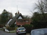 かやぶきの大きな屋根