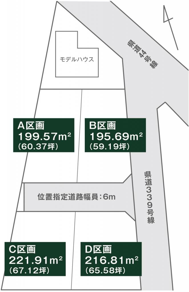 下野市 土地 区画図
