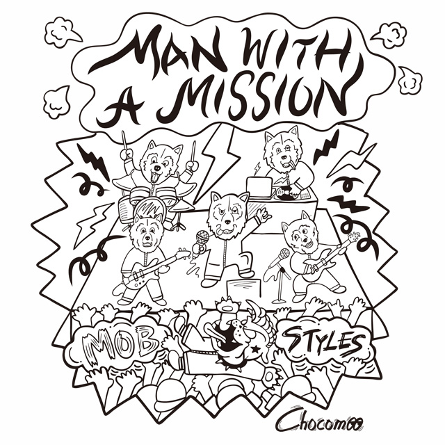 Man With A Mission X Mobstyles Tee 2nd Designed Chocomoo Mobstyles Topics