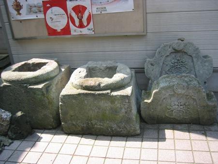 敦賀城表門の礎石