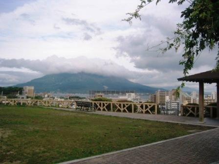 南州公園から見る桜島