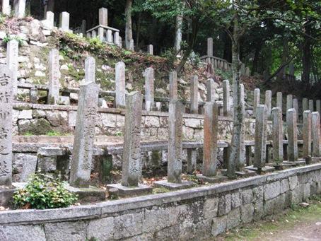 墓石の並び
