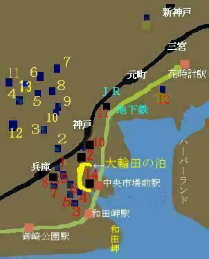 清盛邸の地図