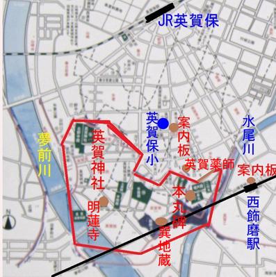 英賀史跡地図
