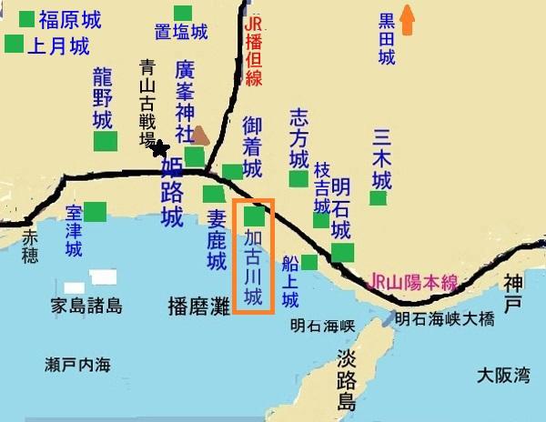 加古川城地図