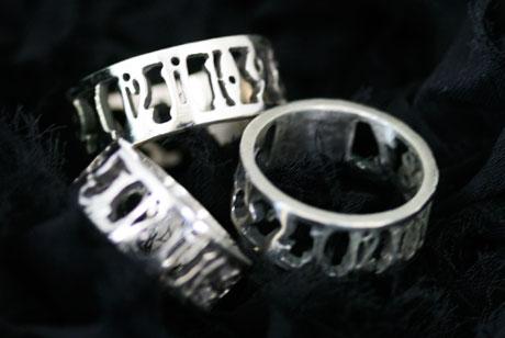 日時計 指輪 シルバー リング