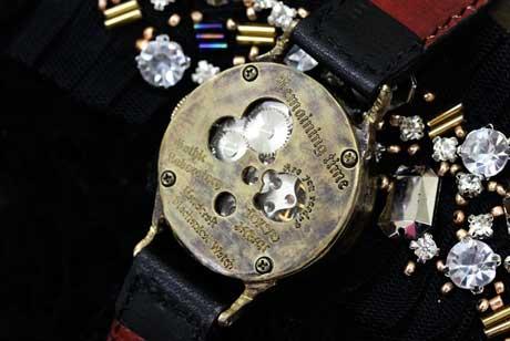 手作り腕時計 機械式 裏