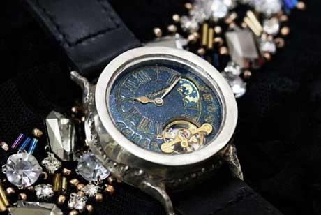 手作り腕時計 シルバー 機械式