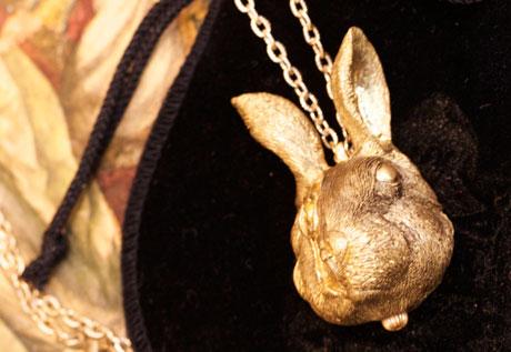 ウサギの時計
