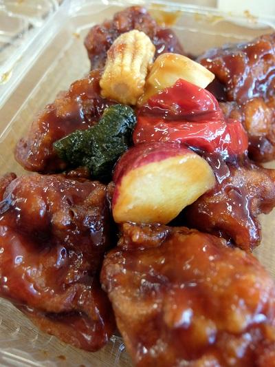 26_黒酢蜂蜜鶏 酢豚風
