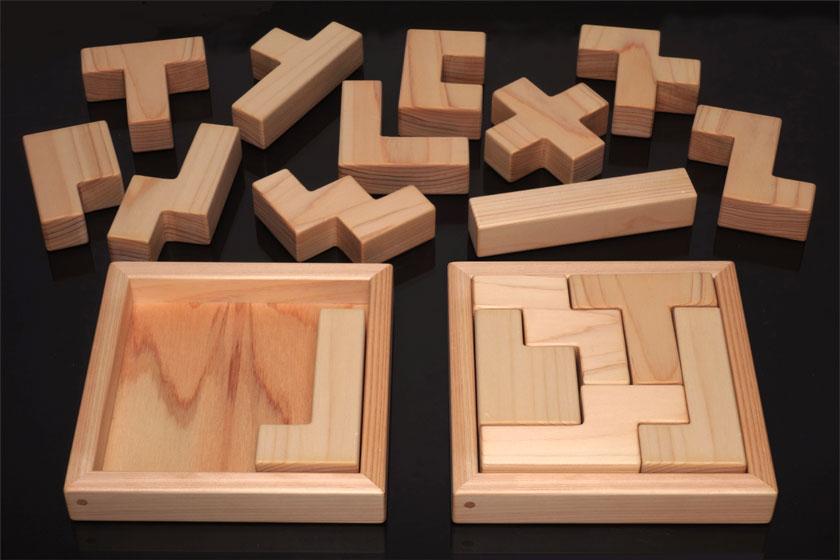 ボックス5×5とペンタブロックの「J」のブロックを入れておいた例