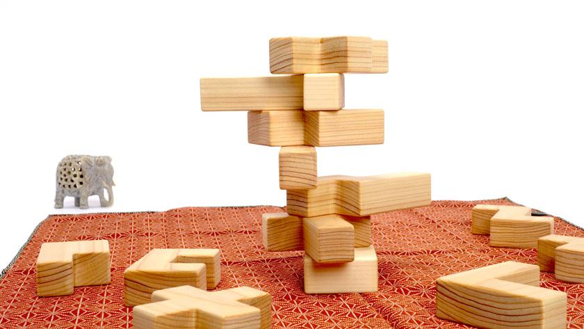 ペンタブロックの積み木
