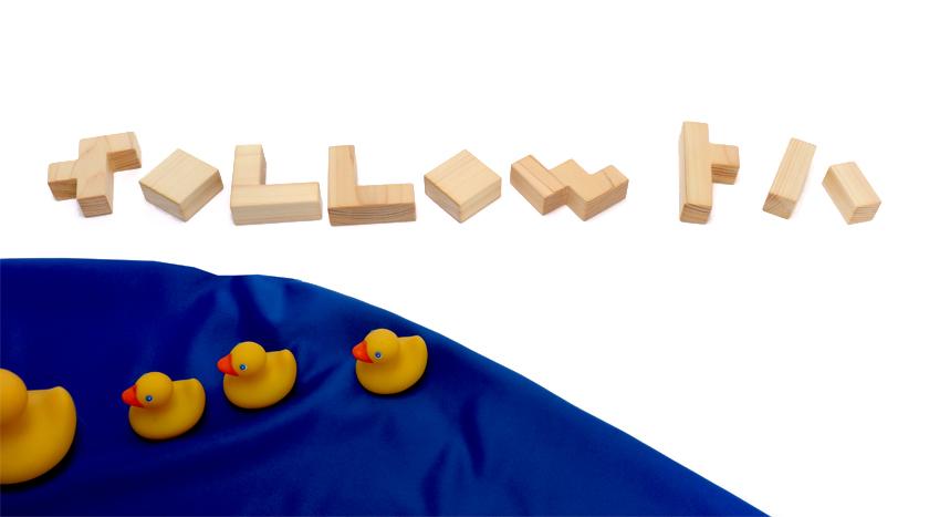 ペンタブロックの「followトハ」の文字