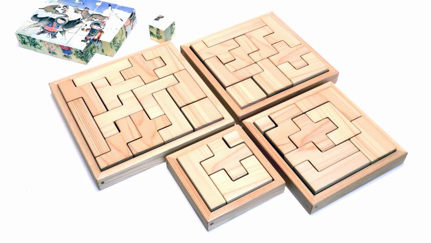 四角のブロックを使う詰め合わせ