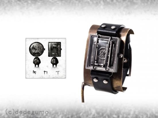 ed238bfb44 dedegumoのレギュラー(定番)時計として発売されましたが、デザインはSchichigoroさんに依頼させていただきました。