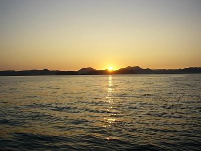 州崎沖の夜明け