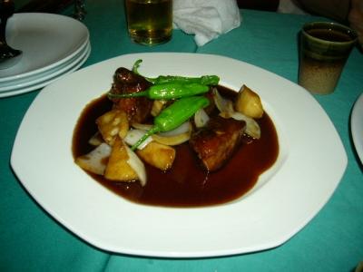 黒酢 酢豚
