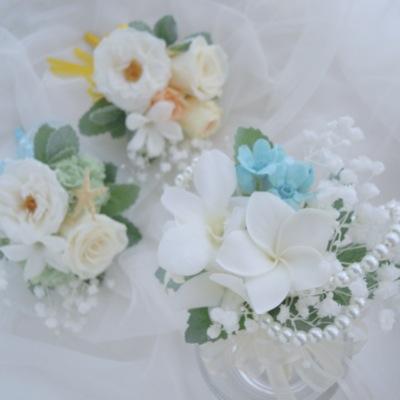 結婚式 親族のコサージュ