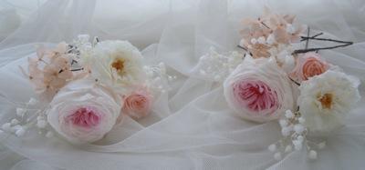 花嫁 花髪飾り
