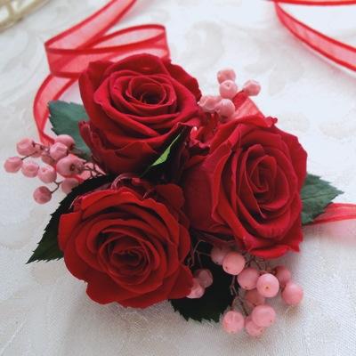 赤バラのリストレット