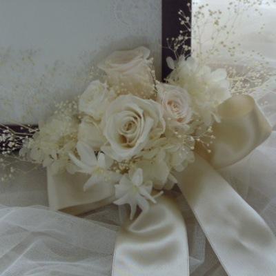 ウェルカムボード装飾の花