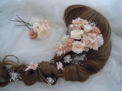カラードレスのヘアード