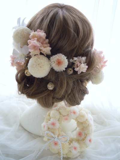和婚 花髪飾り