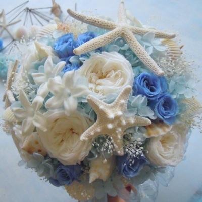 沖縄挙式の貝殻ブーケ