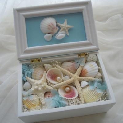 リングピロー ボックス 貝殻