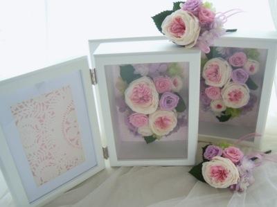 親ギフト お花の写真立て