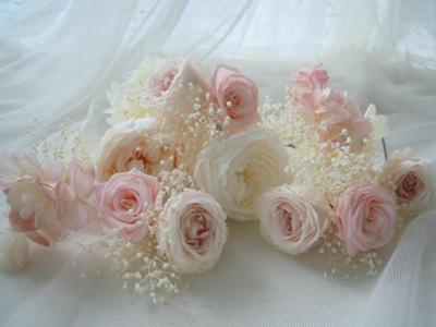 挙式用花髪飾り