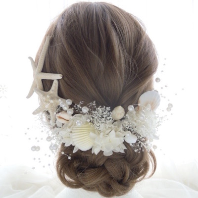 貝殻 髪飾り