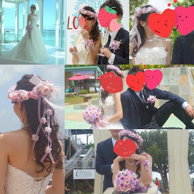グアム挙式 花冠と花嫁