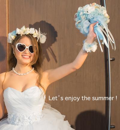 貝殻ブーケと花嫁様