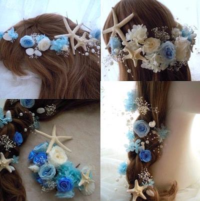 貝殻&スターフィッシュ 髪飾り
