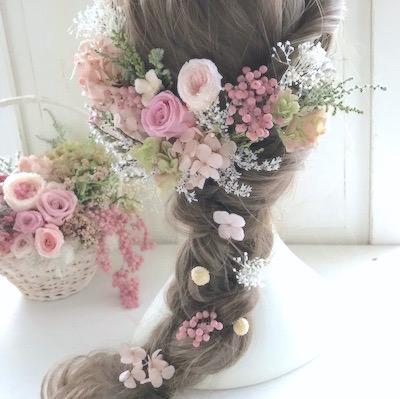 秋婚の髪飾り